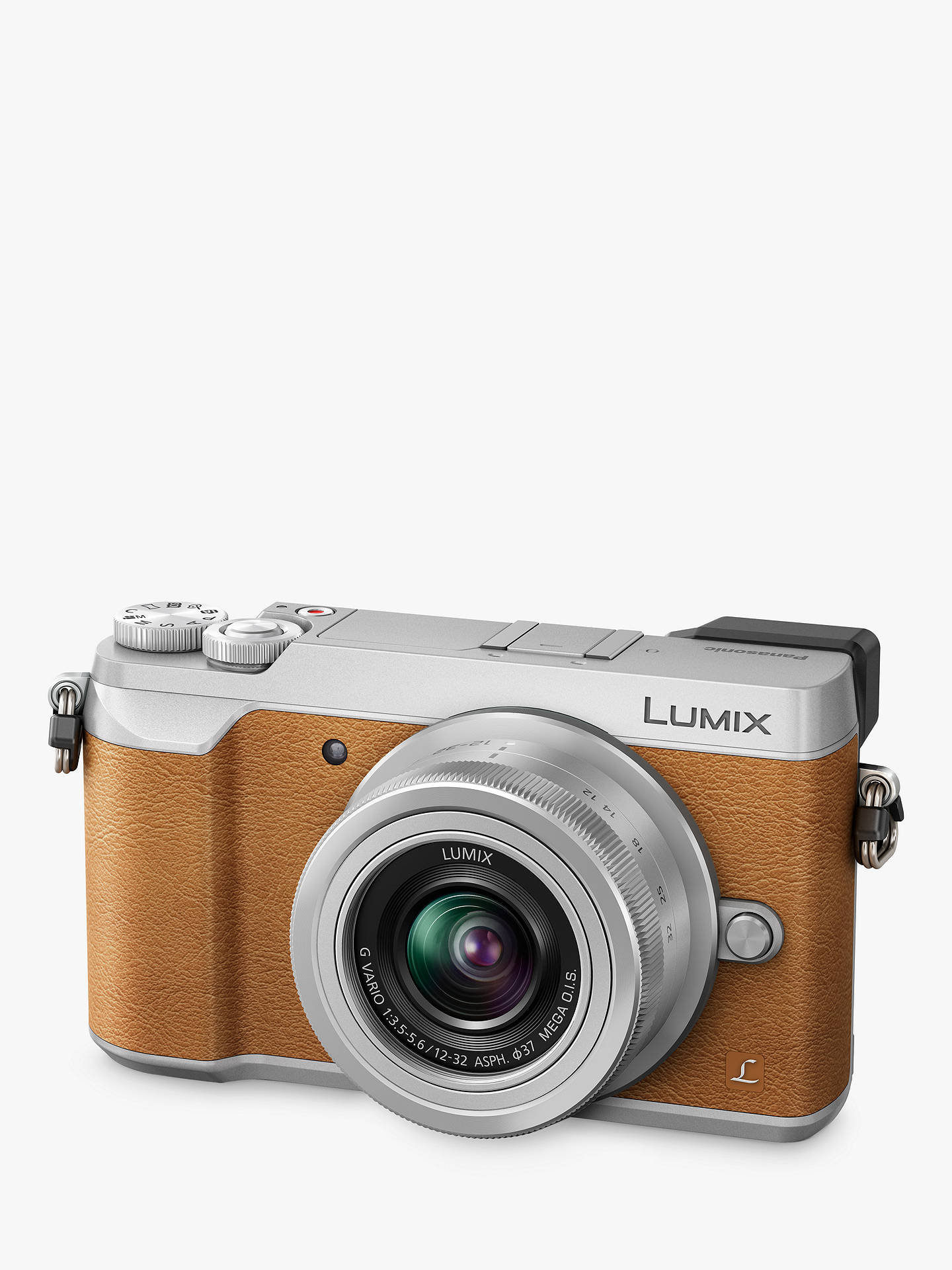 "BuyPanasonic Lumix DMC-GX80 Compact System Camera with 12-32mm Interchangable Lens, 4K Ultra HD, 16MP, 4x Digital Zoom, Wi-Fi, 3"" LCD Touchscreen Free-Angle Monitor, Tan Online at johnlewis.com"