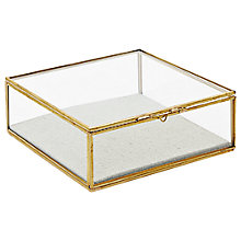 Buy west elm Golden Square Glass Box, Small Online at johnlewis.com