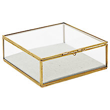 Buy west elm Golden Hexagon Glass Box, Large Online at johnlewis.com