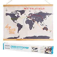 Buy Suck UK Cross Stitch Travellers Map Online at johnlewis.com