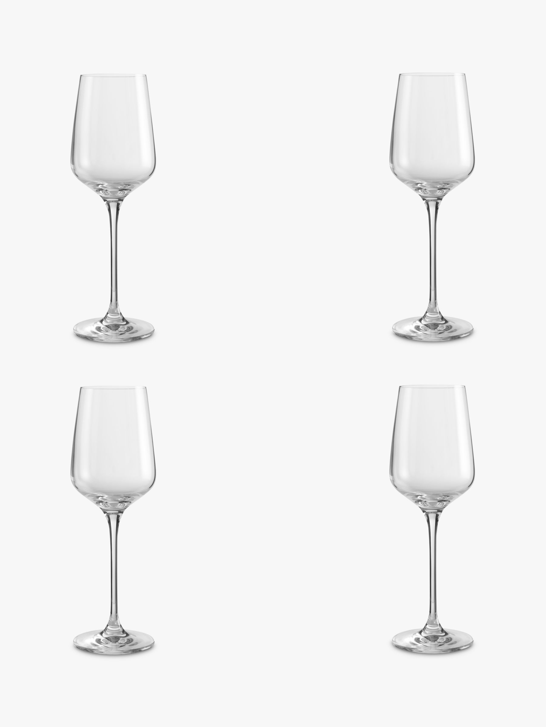 Design Project by John Lewis Design Project by John Lewis No.018 White Wine Glasses, Set of 4, Clear, 350ml
