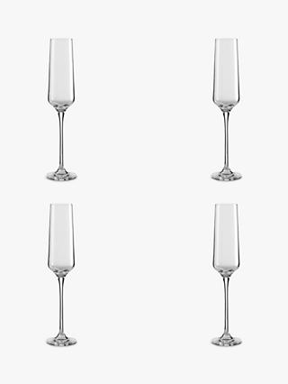 Design Project by John Lewis No.018 Flute, Set of 4, Clear, 190ml