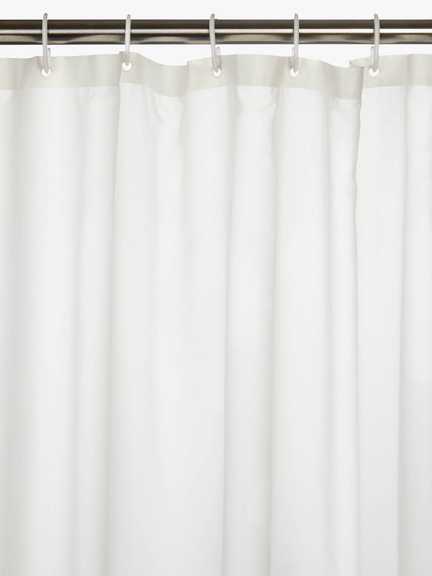 BuyJohn Lewis The Basics Brushed Polyester Shower Curtain Online at johnlewis.com