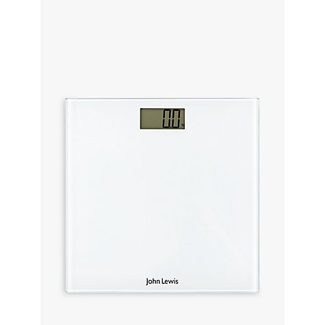 Buy john lewis digital bathroom scale white john lewis John lewis bathroom design and fitting