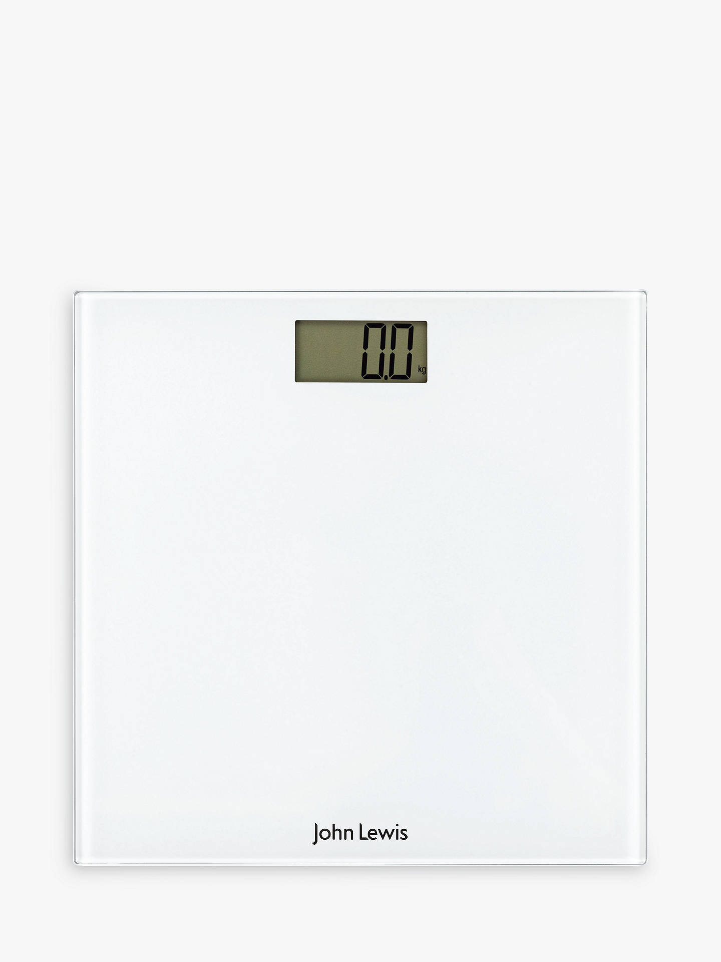 John Lewis Partners Digital Bathroom Scale White At John Lewis Partners