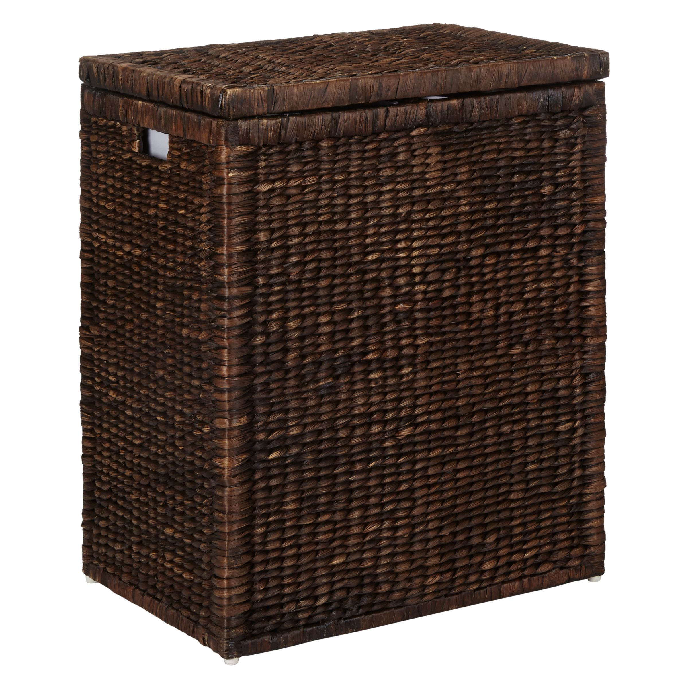 John Lewis Water Hyacinth Double Laundry Hamper Brown At John Lewis Partners
