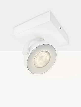 Buy Philips Clockwork LED Single Warmglow Spotlight, White Online at johnlewis.com