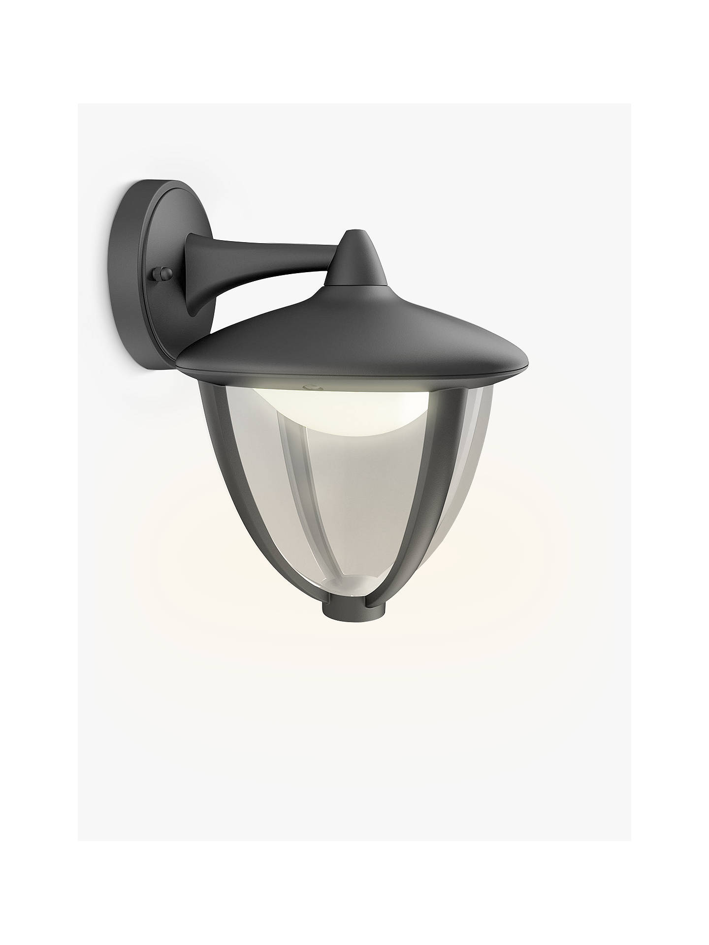Philips Robin Led Outdoor Wall Lantern Black Online At Johnlewis