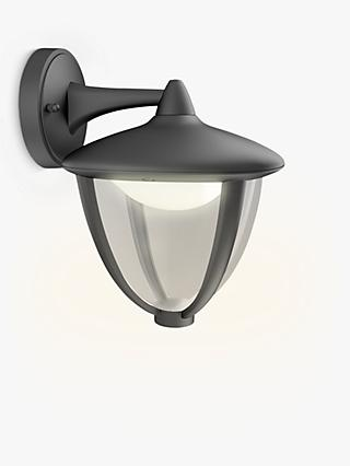 Philips Robin LED Outdoor Wall Lantern, Black