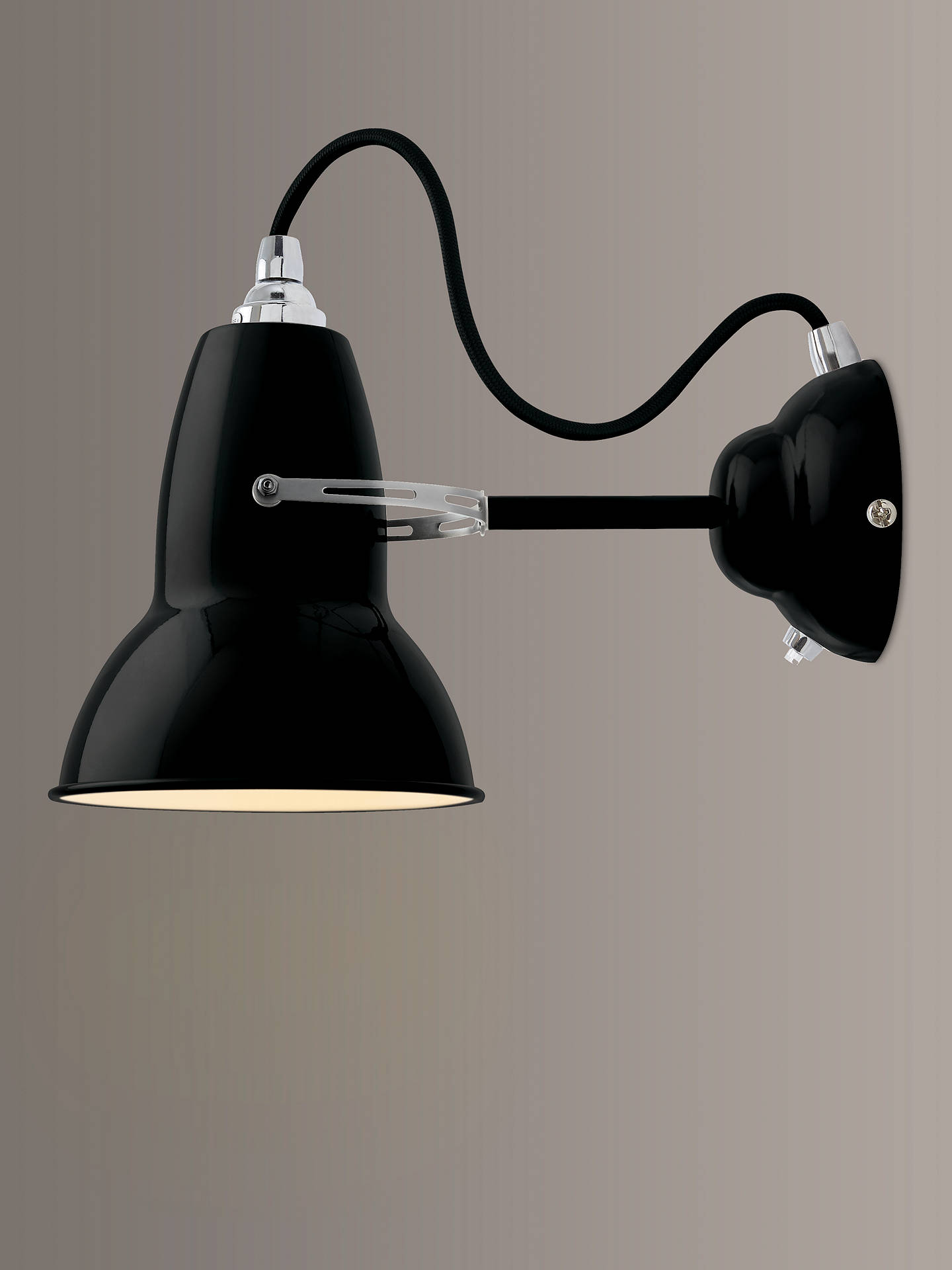 BuyAnglepoise Original 1227 Wall Light, Black Online at johnlewis.com