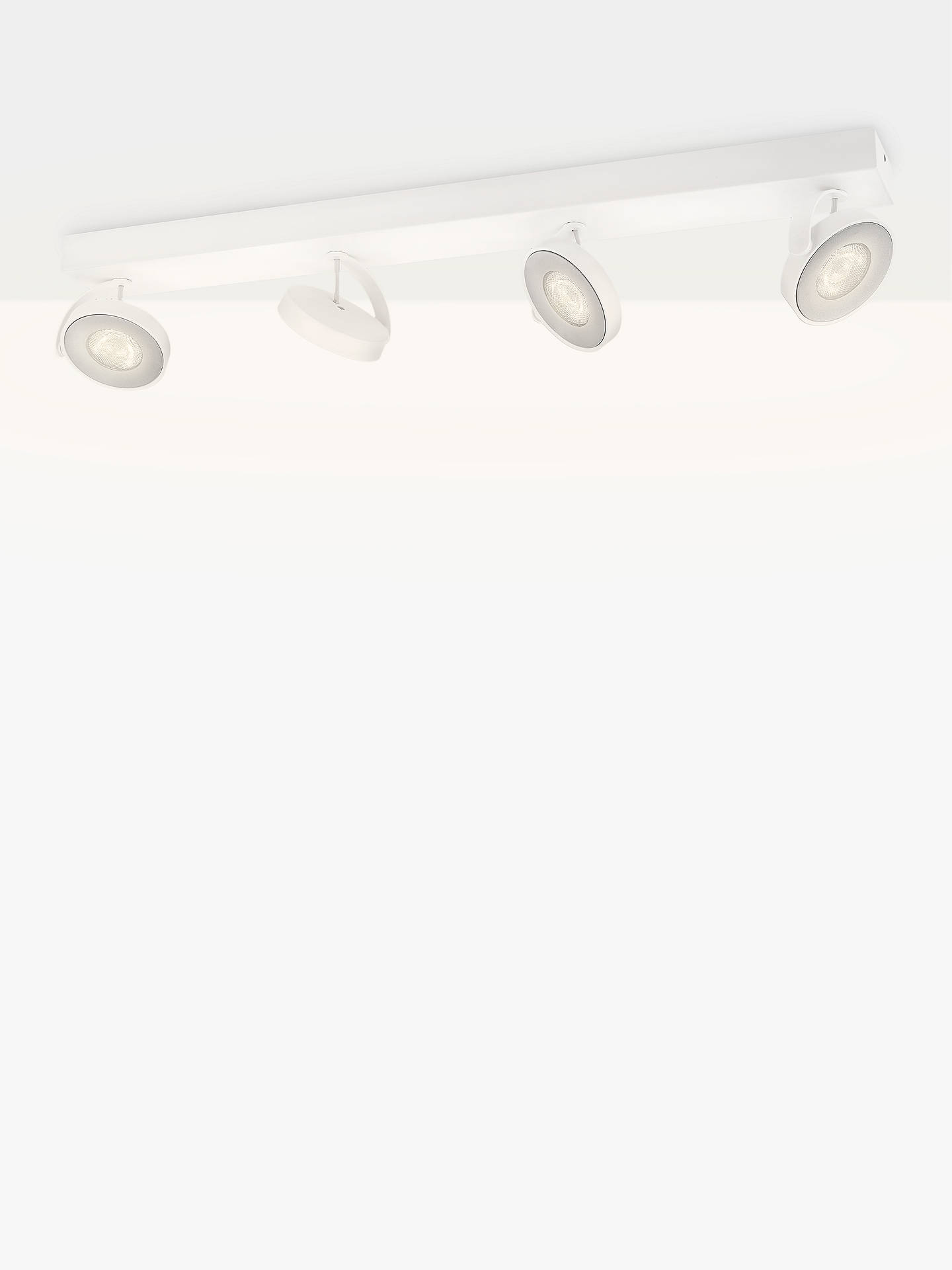 BuyPhilips Clockwork LED Warmglow Spotlight, 4 Light, White Online at johnlewis.com