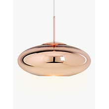Buy Tom Dixon Copper Wide Pendant Ceiling Light, 50cm Online at johnlewis.com