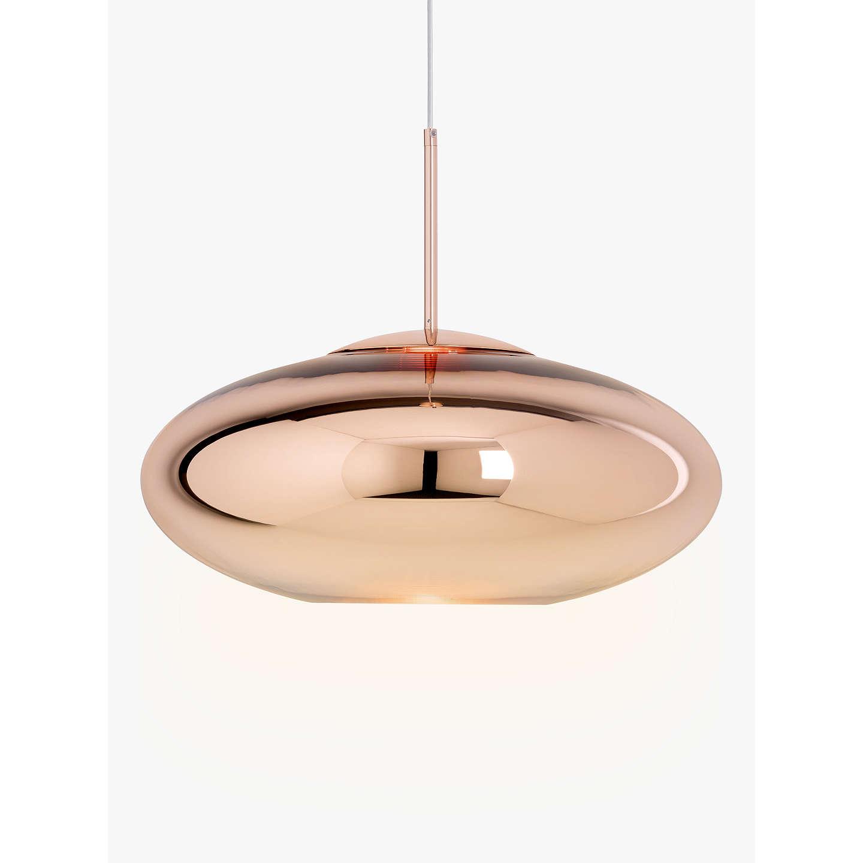 Tom dixon copper wide pendant ceiling light 50cm at john lewis buytom dixon copper wide pendant ceiling light 50cm online at johnlewis aloadofball Images