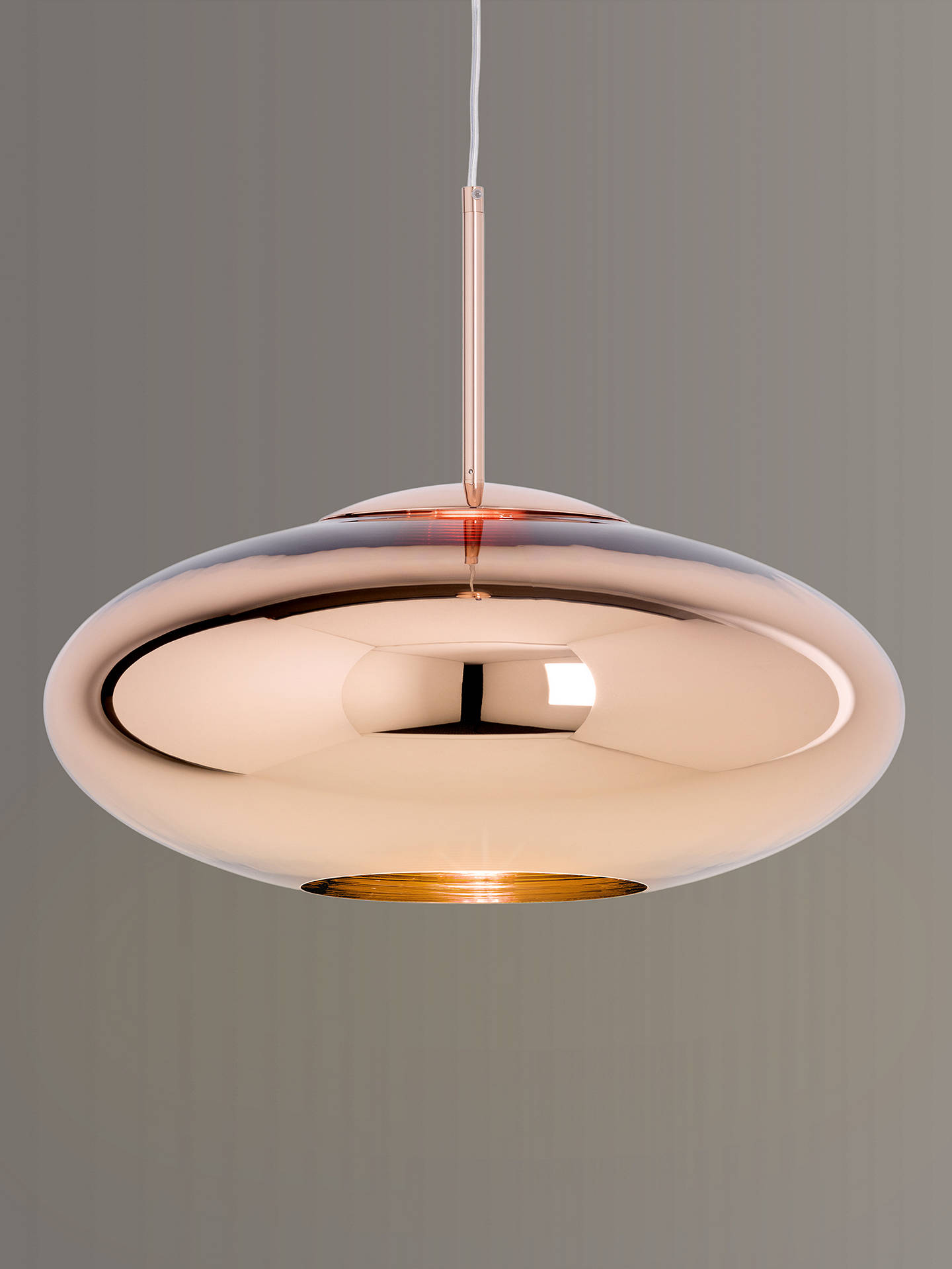 best loved f187f 1945b Tom Dixon Copper Wide Pendant Ceiling Light, 50cm