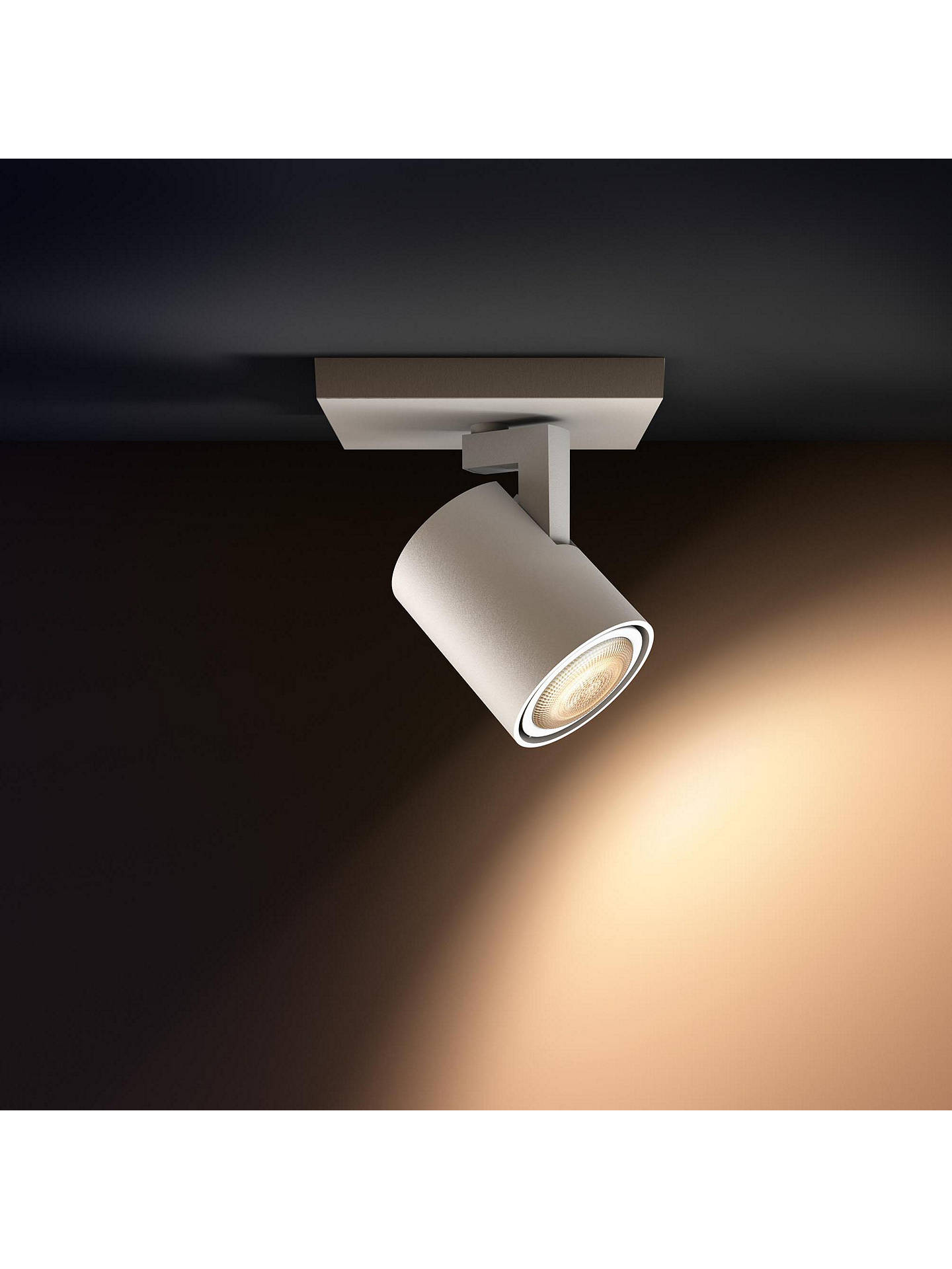BuyPhilips Hue White Ambience Runner LED Single Spotlight, White Online at johnlewis.com