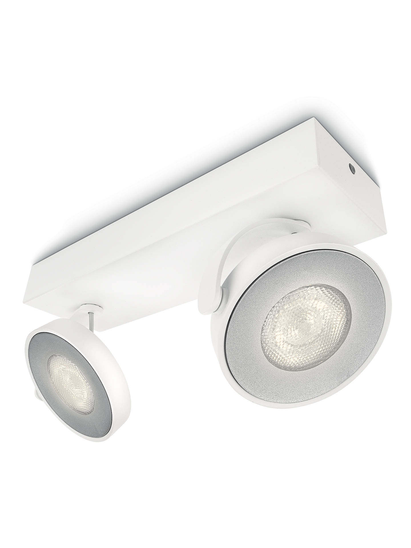 BuyPhilips Clockwork LED Warmglow Spotlight, 2 Light, White Online at johnlewis.com