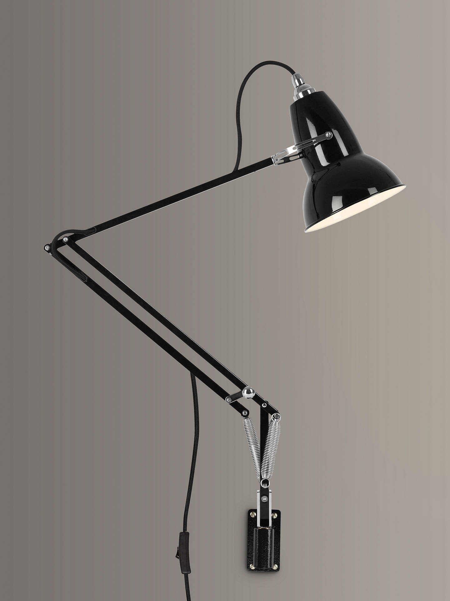 BuyAnglepoise Original 1227 Extendable Wall Light, Black Online at johnlewis.com