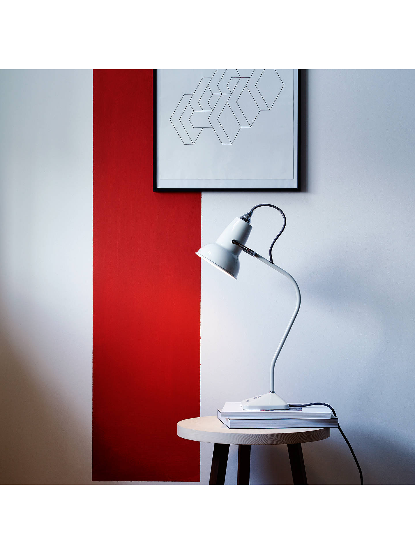 BuyAnglepoise Original 1227 Mini Table Lamp, Linen White Online at johnlewis.com