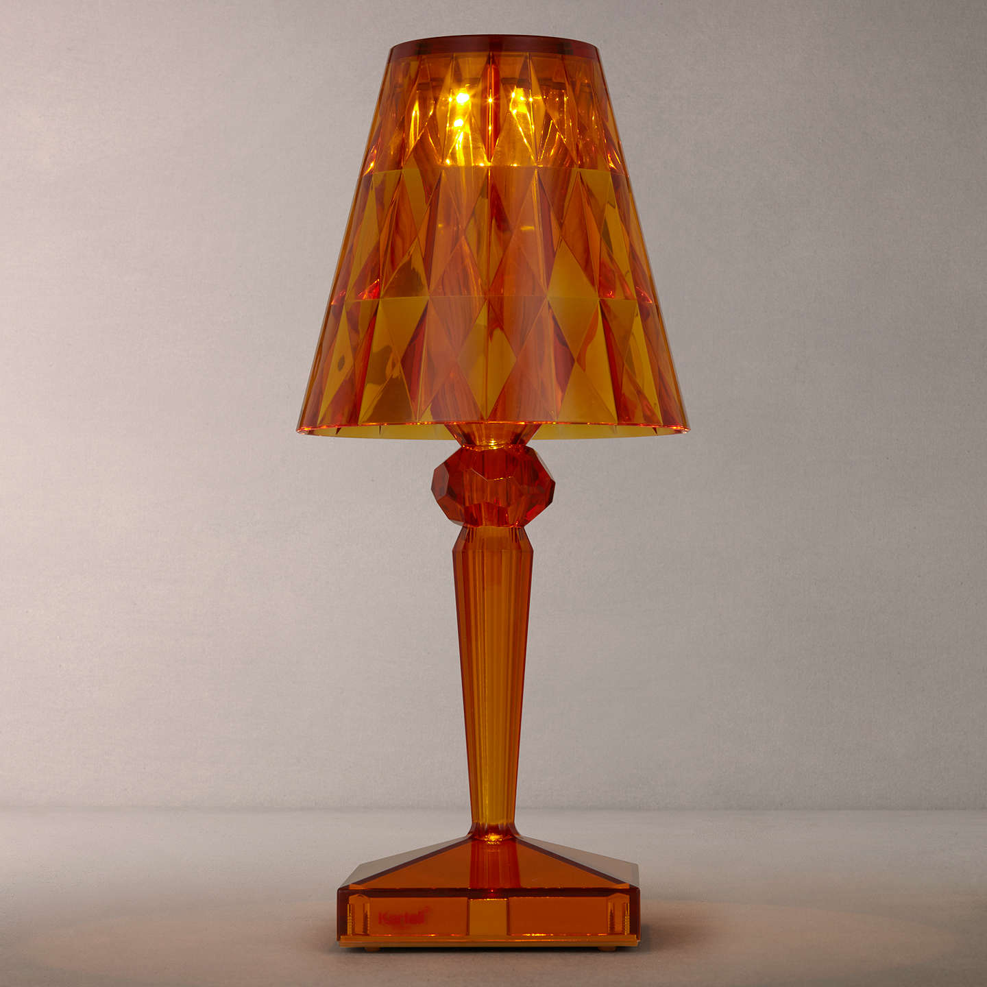BuyKartell Battery Table Lamp, Amber Online At Johnlewis.com ...