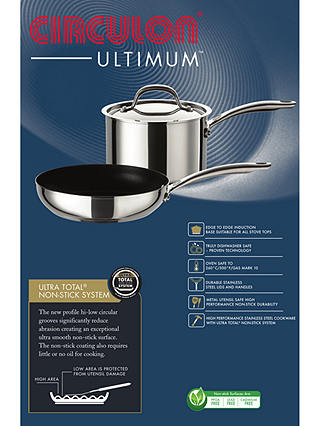 Buy Circulon Ultimum Stainless Steel Non-Stick Milk Pan, 14cm Online at johnlewis.com
