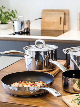 Buy Circulon Ultimum Non-Stick Stainless Steel Stock Pot, 24cm Online at johnlewis.com