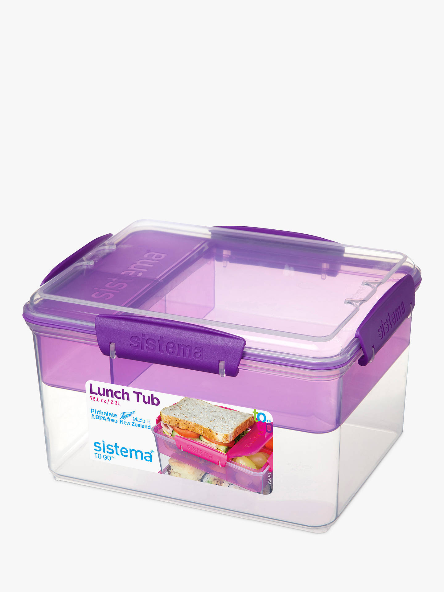 Buy Sistema Lunch Tub To Go, 2.3L, Assorted Online at johnlewis.com