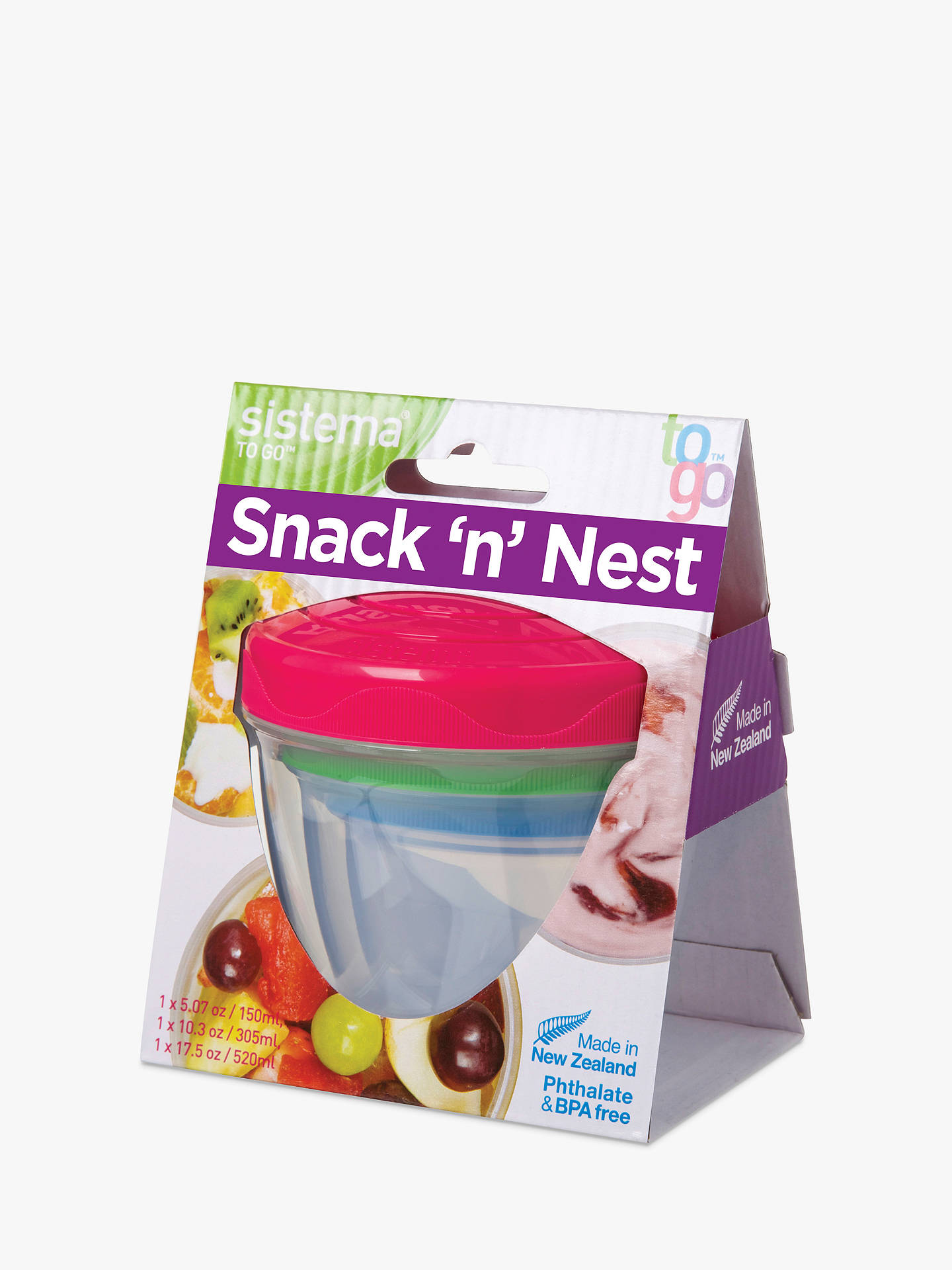 BuySistema Snack and Nest Food Storage Container, Assorted Online at johnlewis.com