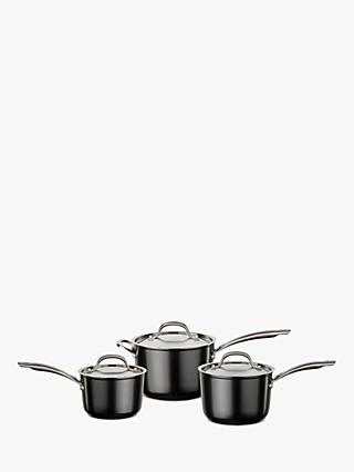 Circulon Ultimum High Density Forged Aluminium Lidded Non-Stick Saucepan Set, 3 Pieces
