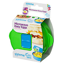 Buy Sistema Easy Eggs To Go Microwave Container, Assorted Colours Online at johnlewis.com