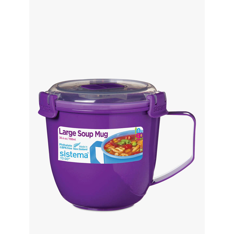 Sistema Soup Mug To Go, 900ml, Assorted at John Lewis