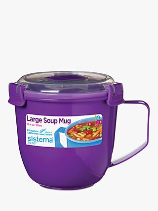 Sistema Microwave Large Soup Mug, 900ml, Assorted