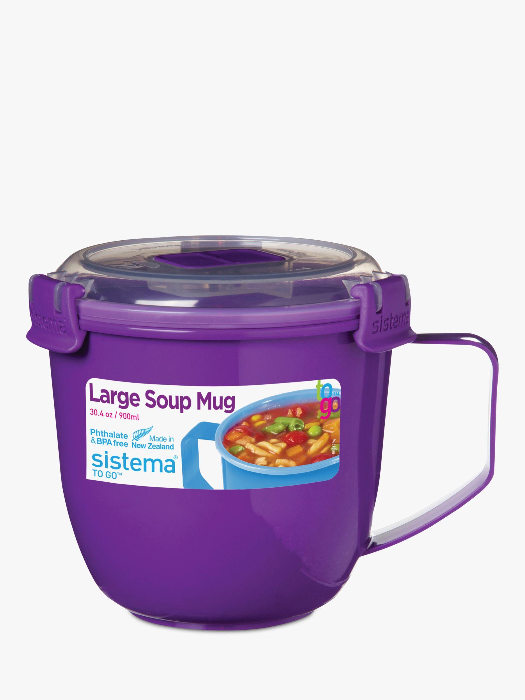 Sistema Sistema Microwave Large Soup Mug, 900ml, Assorted