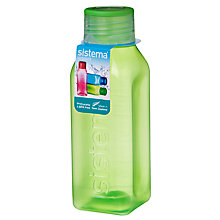 Buy Sistema 475ml Square Bottle, Assorted Colours Online at johnlewis.com