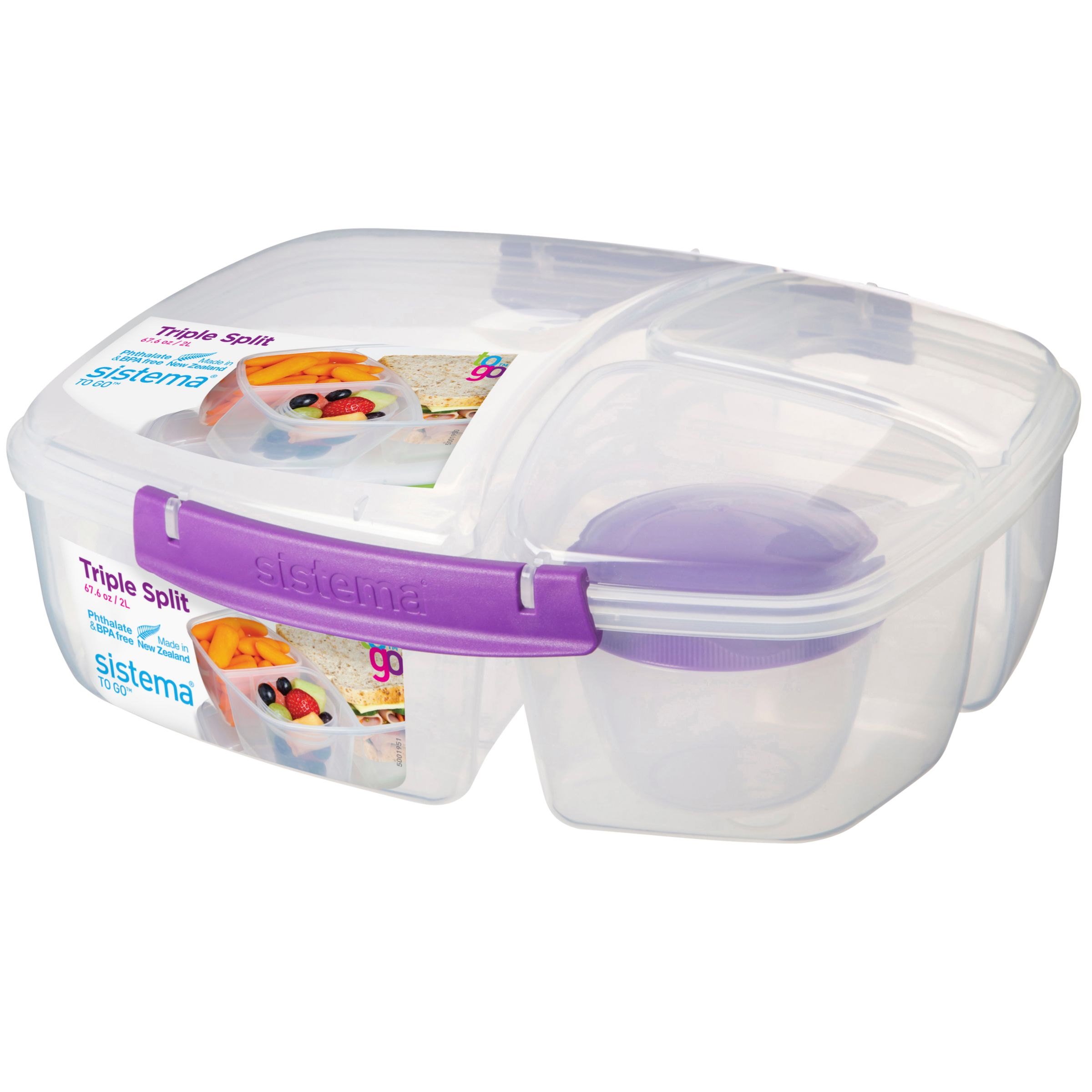 Sistema Triple Split Food Storage Container Assorted at John Lewis