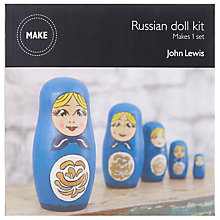Buy John Lewis Make Your Own Russian Doll Kit Online at johnlewis.com