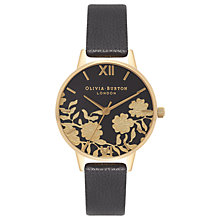 Buy Olivia Burton Women's Lace Detail Leather Strap Watch Online at johnlewis.com
