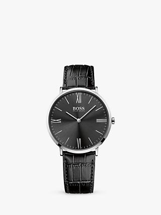 HUGO BOSS Men's Jackson Leather Strap Watch