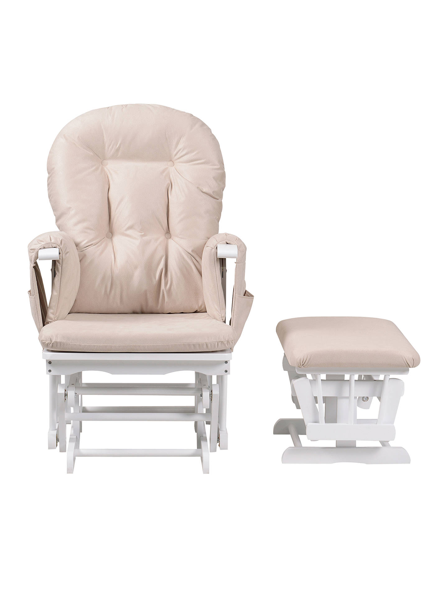 Super Kub Haywood Reclining Glider Nursing Chair And Footstool White Ncnpc Chair Design For Home Ncnpcorg