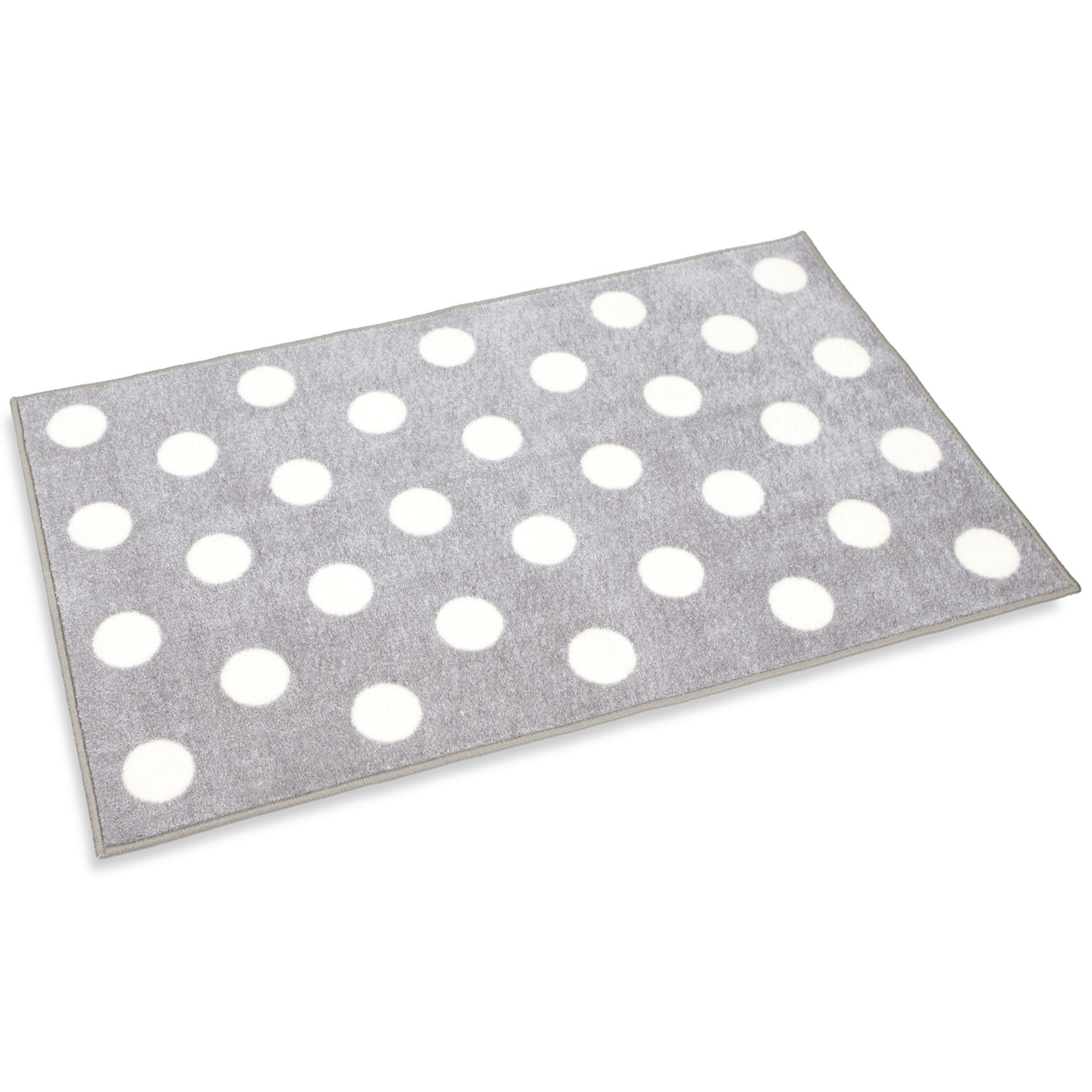 Picture of: Kit For Kids Polka Dot Rug Grey At John Lewis Partners
