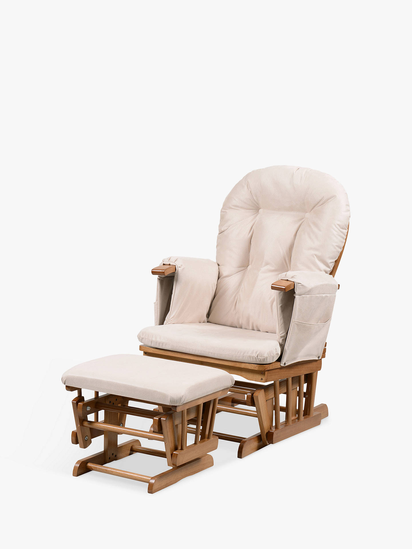 Peachy Kub Haywood Reclining Glider Nursing Chair And Footstool Beige Pabps2019 Chair Design Images Pabps2019Com