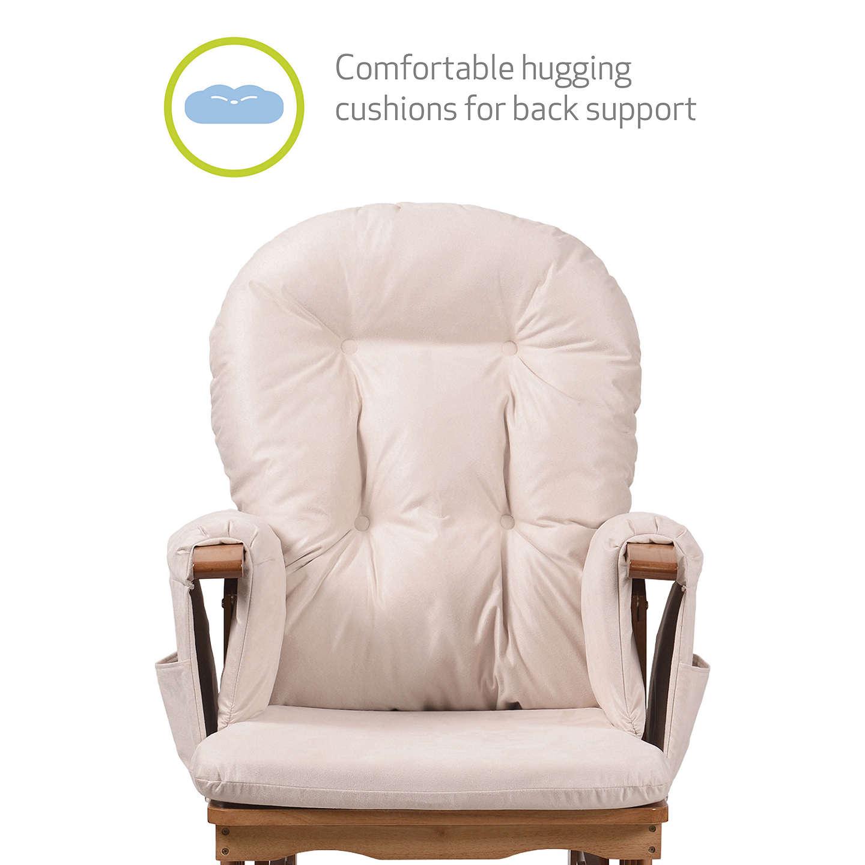 Kub Haywood Reclining Glider Nursing Chair And Footstool