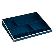 Buy Semikolon Desktop Organiser, Marine Blue Online at johnlewis.com