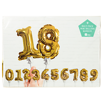 Product photo of Talking tables mini balloon numbers