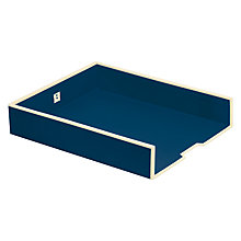 Buy Semikolon A4 Paper Tray, Marine Blue Online at johnlewis.com
