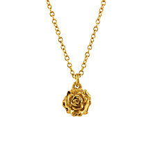 Buy Alex Monroe 22ct Gold Plated Sterling Silver Rosa Damascena Pendant Necklace, Gold Online at johnlewis.com