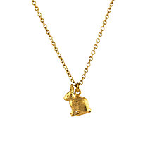 Buy Alex Monroe 22ct Gold Plated Sterling Silver Sitting Bunny Pendant Necklace, Gold Online at johnlewis.com