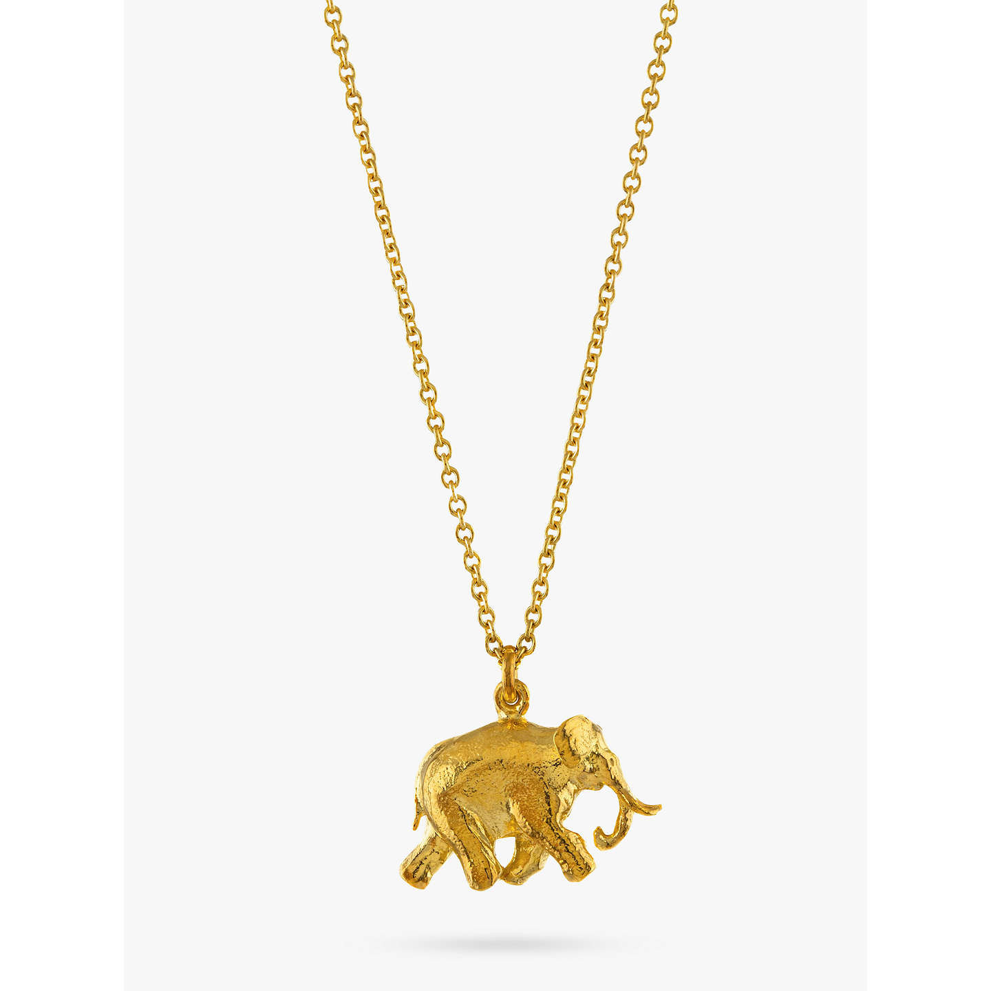 Alex monroe 22ct gold plated sterling silver elephant pendant buyalex monroe 22ct gold plated sterling silver elephant pendant necklace gold online at johnlewis aloadofball Image collections