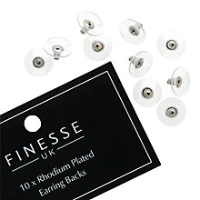 Buy Finesse Rhodium Plated Earring Backs, Silver Online at johnlewis.com