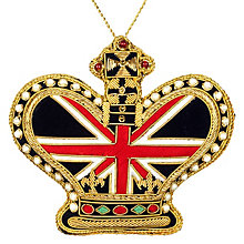 Buy Tinker Tailor Tourism Union Jack Crown ER Bauble Online at johnlewis.com