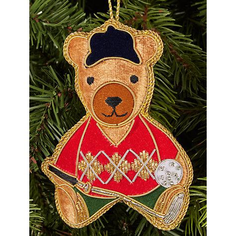 Buy tinker tailor tourism golfing bear tree decoration John lewis christmas ornaments